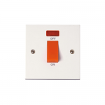Polar 45A double pole switch with neon