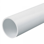 Round PVC conduit - Rigid (sold per 3M length), White, 25mm