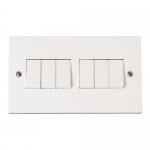 Polar 6 gang 2 way light switch