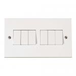 Polar 6 gang 2 way light switch