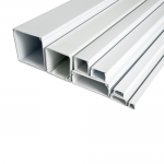 White PVC trunking (3M lengths) - 50x25mm
