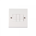 Polar 3 gang 2 way light switch