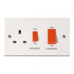 Polar 45A cooker switch with socket