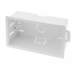 Dry line plasterboard back boxes - 2 gang 32mm