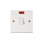 Polar 20A double pole switch with neon