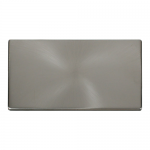 Definity brushed stainless 2 gang blank plate