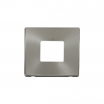 Definity brushed stainless 1 gang 2 aperture cover plate