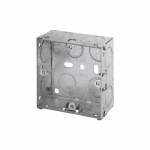 Galvanised back boxes - 1 gang 35mm