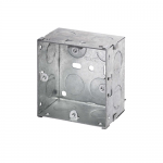 Galvanised back boxes - 1 gang 47mm