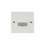 Definity fused connection unit with flex outlet white insert with brushed stainless
