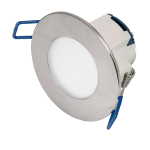 5.5w LED dimmable recessed IP65 downlight chrome bezel (2700K)