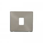 Definity brushed stainless cover plate for 20A double pole switch