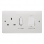 Mode 45A cooker switch with socket