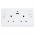 Mode 2 gang socket with USB and USB-C