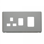 Definity chrome cover plate for 45A switch with socket