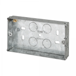 Galvanised back boxes - 2 gang 25mm
