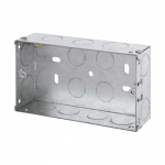 Galvanised back boxes - 2 gang 35mm