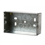 Galvanised back boxes - 2 gang 47mm