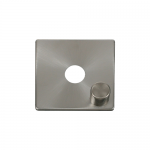 Definity brushed stainless cover plate and knob for 1 gang dimmer
