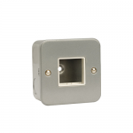 Metal clad 1 gang switch plate 2 apertures