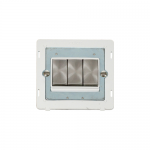 Definity 3 gang light switch white insert - brushed stainless
