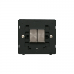 Definity 2 gang light switch black insert - brushed stainless