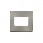 Definity brushed stainless cover plate for 3 gang light switch