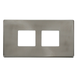 Definity brushed stainless 2x2 aperture cover plate