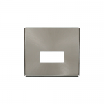 Definity brushed stainless cover plate for fused connection unit
