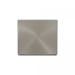Definity brushed stainless 1 gang blank plate