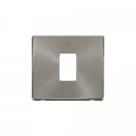 Definity brushed stainless cover plate for 1 gang light switch