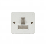 Definity switched fused connection unit white insert - brushed stainless