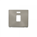 Definity brushed stainless cover plate for 20A double pole switch with neon
