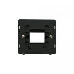 Definity 1 gang 2 aperture plate - black insert