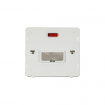 Definity un-switched fused connection unit with neon white insert - brushed stainless