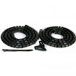 Black cable tidy