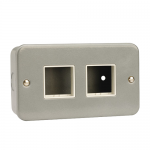 Metal clad 2 switch plate 2x2 aperture