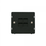Definity 1 gang blank plate insert - black