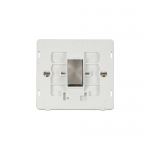 Definity intermediate switch white insert - brushed stainless