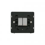 Definity 2 gang light switch black insert - chrome