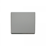 Definity chrome 1 gang blank plate - black