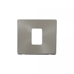 Definity brushed stainless cover plate for 45A switch
