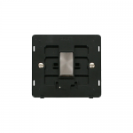 Definity 1 gang switch black insert - brushed stainless