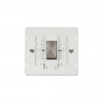 Definity 1 gang light switch white insert - brushed stainless