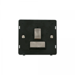 Definity switched fused connection unit black insert - brushed stainless