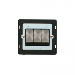 Definity 3 gang light switch black insert - brushed stainless