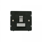 Definity switched fused connection unit black inserts - chrome