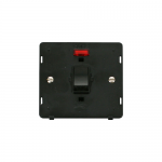 Definity 20A double pole switch with neon - black