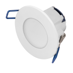 5.5w LED dimmable recessed IP65 downlight white bezel (2700K)