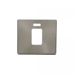 Definity brushed stainless cover plate for 45A switch with neon